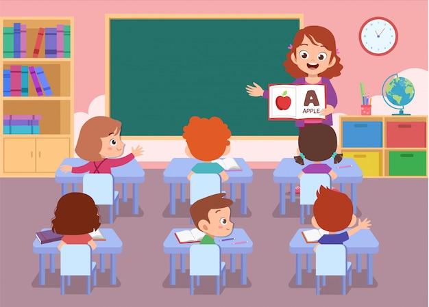 Lehrer mit dem studenten lokalisiert