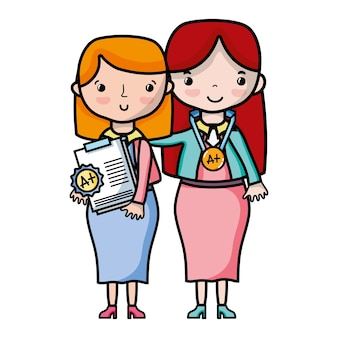 Lehrer mit schüler zur unterrichtsstunde