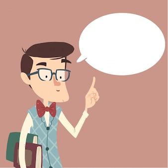 Lehrer spricht oder gibt ratschläge