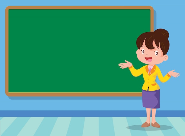 Lehrer und rückwand