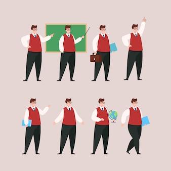 Lehrer-zeichensatz