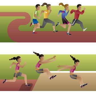 Leichtathletik zeichen sammlung