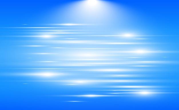 Leichter spezialeffekt. leuchtende streifen auf transparentem hintergrund.