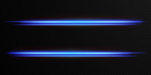 Leichtes horizontales lens flares-paket