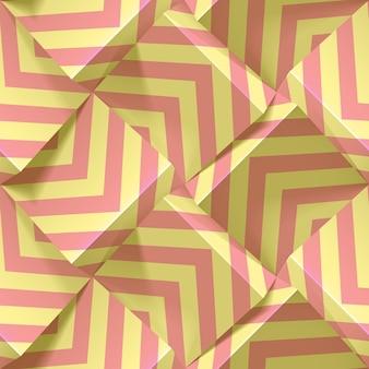 Leichtes nahtloses geometrisches muster mit sich wiederholenden streifen in pastellfarben. vorlage für tapeten, textilien, stoff, geschenkpapier, hintergründe. abstrakte realistische 3d-textur.