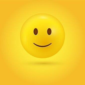 Leichtes smiley-emoji-gesicht