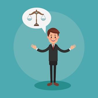 Leitender anwalt cartoon