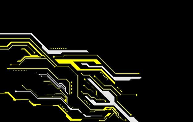 Leiterplatte. technologiehintergrund. zentrale computerprozessoren cpu-konzept. digitaler chip des motherboards. vektor-illustration.
