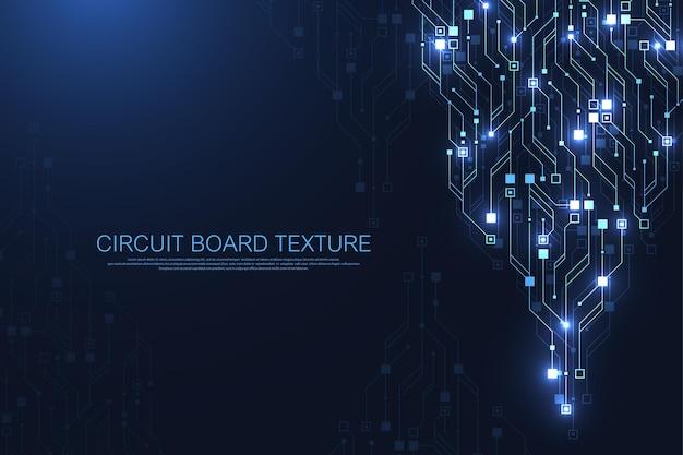 Leiterplatten-design-hintergrund. abstrakter kommunikationsleiterplatten-technologiehintergrund