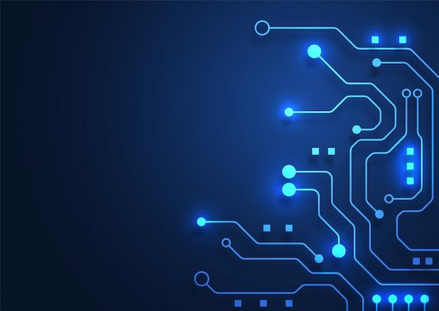 Leiterplattentechnologiehintergrund mit high-techem verbindungssystem der digitalen daten und computer elektronisch