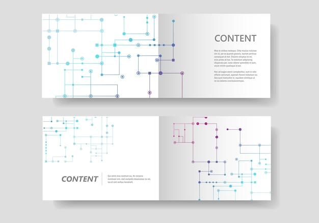 Leitungshintergrund, verbundene punkte und leitungen. abstraktes banner design