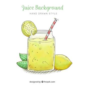 Lemonade hintergrund in handgezeichneten stil