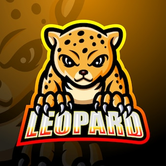 Leopard esport maskottchen illustration
