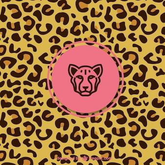 Leopard muster mit etikett
