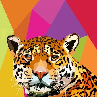 Leopard-pop-art-vektor