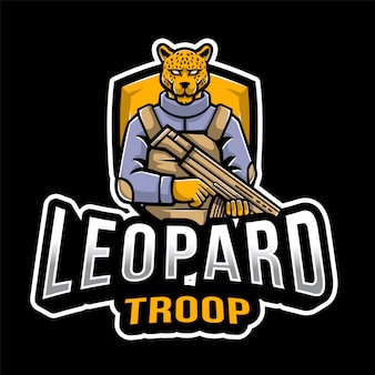 Leopard troop esport logo