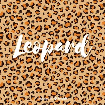 Leoparddruck mit worthintergrund