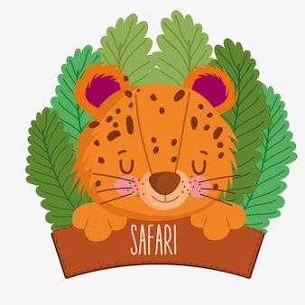 Leoparden- und safaribrett