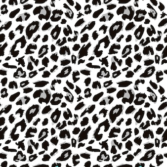 Leopardenfell-druckmuster nahtloses tierfellmuster