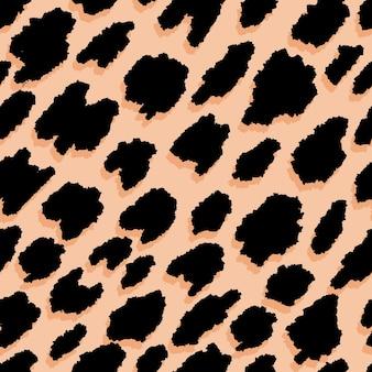 Leopardenfell. nahtloses muster mit tierdruck. Premium Vektoren
