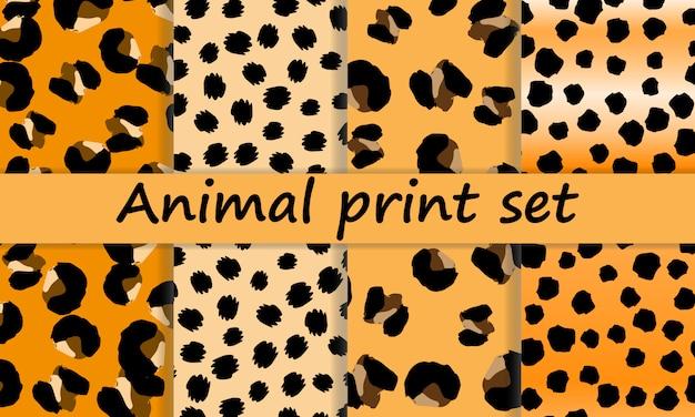 Leopardenmuster. tierhautmuster.