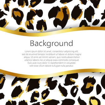 Leopardenmuster. wiederholen des nahtlosen vektortierhintergrundes.