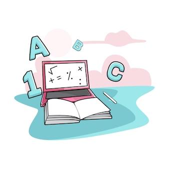 Lerne, einen laptop zu benutzen