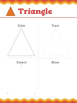 Lerne formen und geometrische figuren. arbeitsblatt für vorschule oder kindergarten. vektorillustration