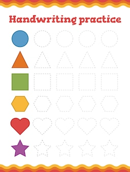 Lerne formen und geometrische figuren.