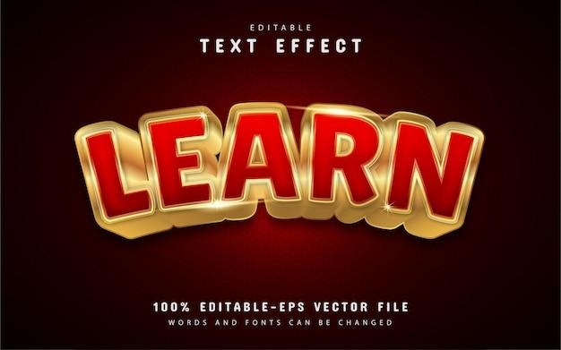 Lerne gold-texteffekt