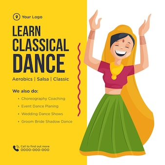 Lerne klassisches tanzbanner-design