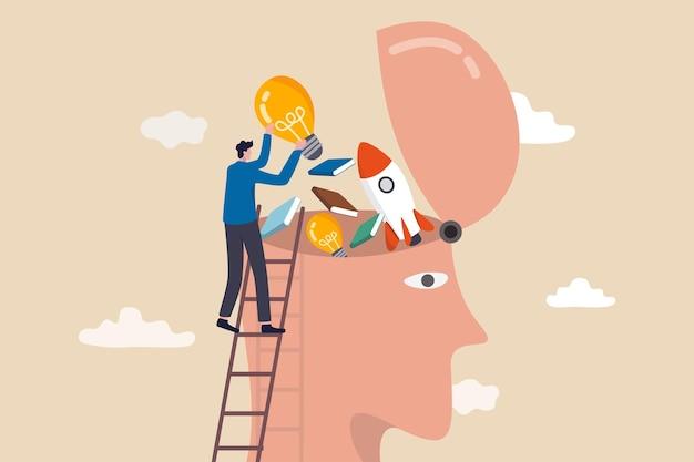 Lerne neue dinge oder wissensentwicklung für neue fähigkeiten