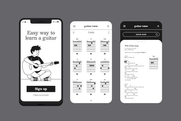 Lernen sie eine instrumenten-handy-app
