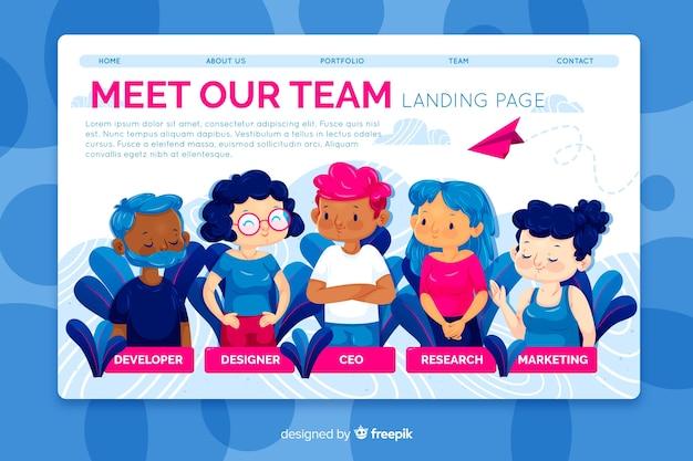 Lernen sie unser teamkonzept für die landing page kennen