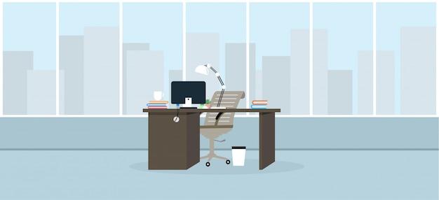 Lernen und lehren im büro arbeiten mit einer programmillustration