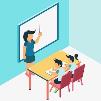 Lernprozess im klassenzimmer