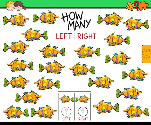 Lernspiel des zählens des linken und rechten bildes