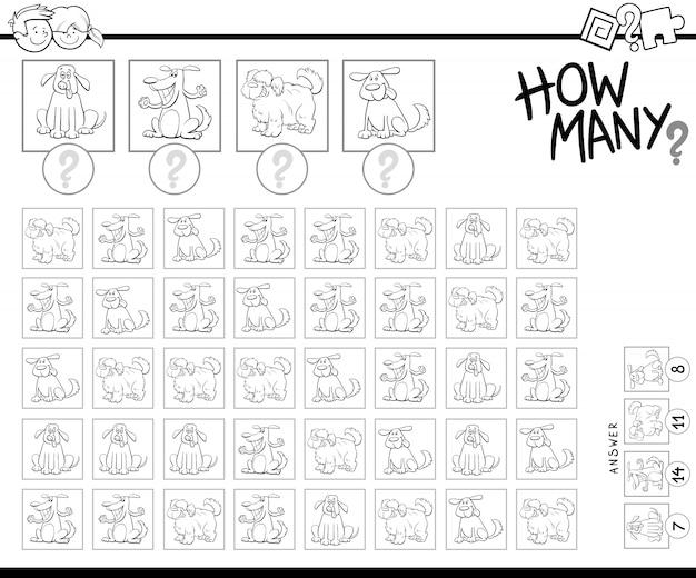 Lernzählspiel für kinder mit hunden
