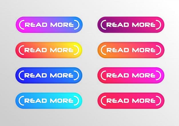 Lesen sie mehr schaltflächenset