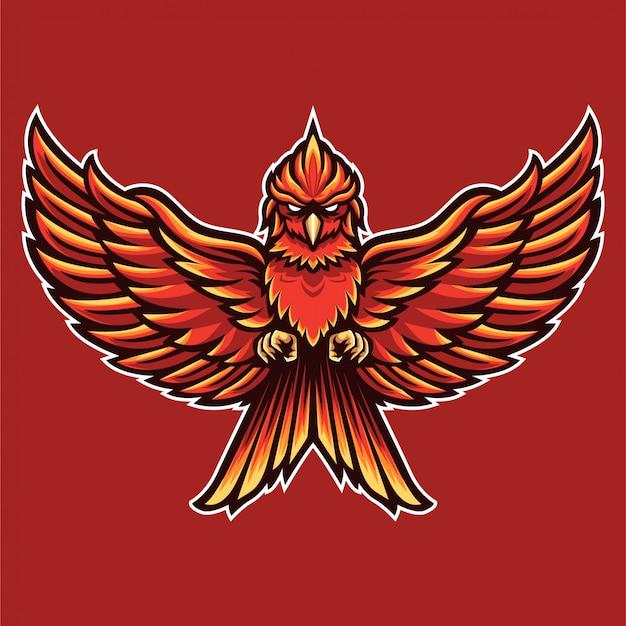 Lesen sie vogel-phoenix-logo-schablone