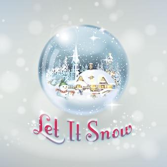 Let it snow festliche schneekugel