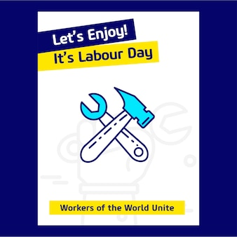 Lets enjoy seine labor day poster design