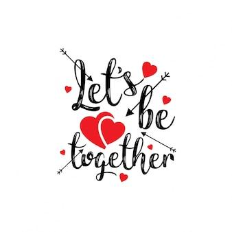 Lets zusammen stilvoll sein