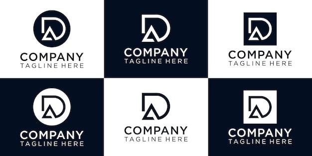 Letter da monogramm inspirierendes logo-design