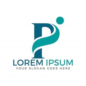Letter p adoption und community care logo design.