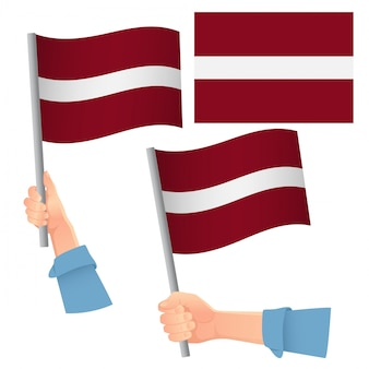 Lettland flagge im handset