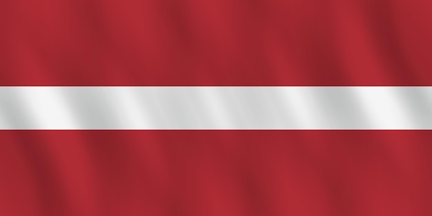 Lettland-flagge mit wehender wirkung, amtlicher anteil.