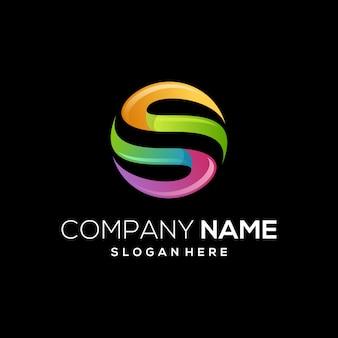 Letztes s farbenreiches logo modern