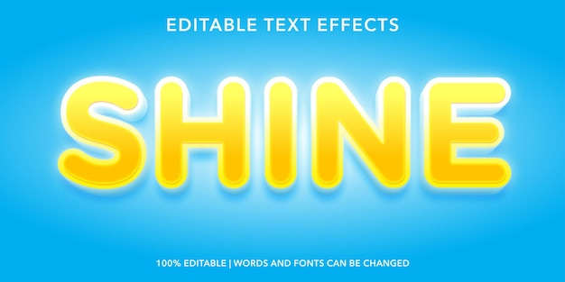 Leuchten sie den bearbeitbaren texteffekt