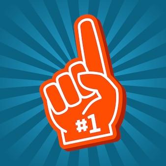 Leuchtend orange schaum hand vektor-illustration